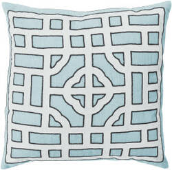 Surya Chinese Gate Pillow Ld-047 Blue