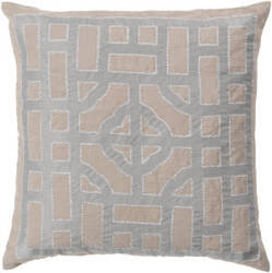 Surya Chinese Gate Pillow Ld-050 Camel/Silver