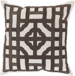 Surya Chinese Gate Pillow Ld-053 Brown
