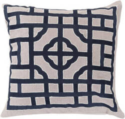 Surya Chinese Gate Pillow Ld-054 Navy