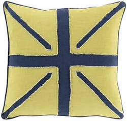 Surya Linen Flag Pillow Lf-001