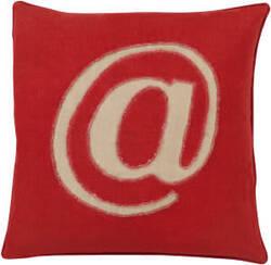 Surya Linen Text Pillow Lx-002