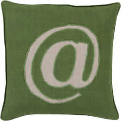 Surya Linen Text Pillow Lx-005