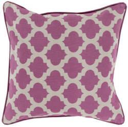 Surya Moroccan Printed Lattice Pillow Mpl-005