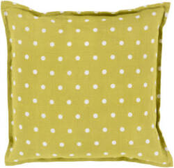 Surya Polka Dot Pillow Pd-002 Moss