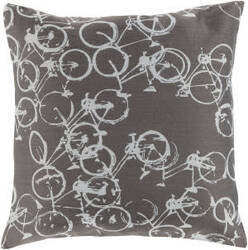 Surya Pedal Power Pillow Pdp-005 Gray
