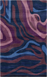 Surya Pigments PGM-3007 Violet (purple) / Blue Area Rug