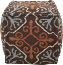 Surya Poufs Pouf-18 Coffee Bean