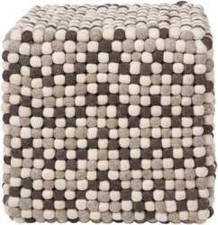 Surya Poufs Pouf-30 Brown