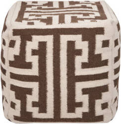 Surya Poufs Pouf-31 Brown
