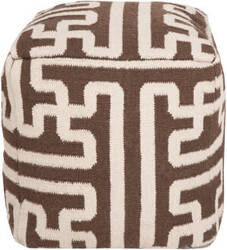 Surya Poufs Pouf-50 Dark Chocolate