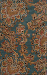 Custom Surya Sea Sea-168 Teal Area Rug