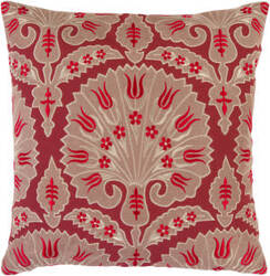 Surya Pillows SI-2001 Poppy/Beige