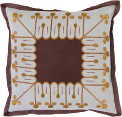 Surya Pillows SI-2014 Chocolate/Slate