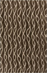 Surya Stamped STM-803 Chocolate Area Rug