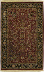 Surya Taj Mahal Tj-1143 Red / Black Area Rug