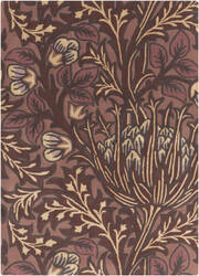 Surya William Morris Wlm-3006 Burgundy Area Rug
