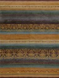 Tibet Rug Company 100 Knot Premium Tibetan Arabesque Gold Area Rug