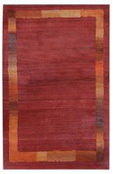 Tibet Rug Company 60 Knot Premium Tibetan Border Red Area Rug