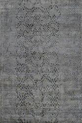 Tibet Rug Company 100 Knot Premium Tibetan Diamondback Gray Area Rug