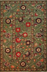 Tibet Rug Company Suzani 13 202949 Green Area Rug