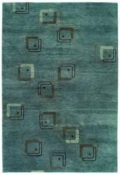 Tibet Rug Company 80 Knot Premium Tibetan Neo Blue Area Rug