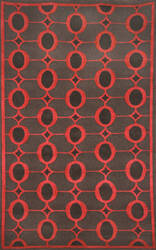 Trans-Ocean Palermo Arabesque Red 7625/24 Area Rug