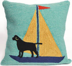 Trans-Ocean Frontporch Pillow Sailing Dog 1402/09 Yellow Area Rug