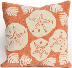 Trans-Ocean Frontporch Pillow Shell Toss 1408/18 Coral Area Rug