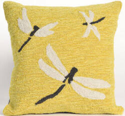 Trans-Ocean Frontporch Pillow Dragonfly 1415/09 Yellow Area Rug