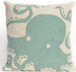 Trans-Ocean Frontporch Pillow Octopus 1432/04 Aqua Area Rug