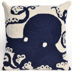 Trans-Ocean Frontporch Pillow Octopus 1432/33 Navy Area Rug