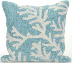 Trans-Ocean Frontporch Pillow Coral 1620/04 Aqua