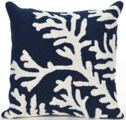 Trans-Ocean Frontporch Pillow Coral 1620/33 Navy