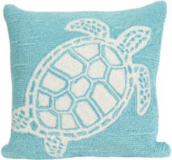 Trans-Ocean Frontporch Pillow Turtle 1634/04 Aqua