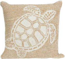 Trans-Ocean Frontporch Pillow Turtle 1634/12 Neutral