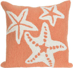 Trans-Ocean Frontporch Pillow Starfish 1667/18 Coral
