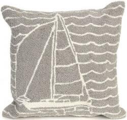 Trans-Ocean Frontporch Pillow Sails 1673/47 Grey