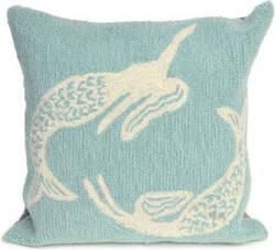Trans-Ocean Frontporch Pillow Mermaids 1674/04 Aqua