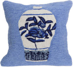 Trans-Ocean Frontporch Pillow Ginger Jars 2410/03 Blue