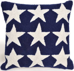 Trans-Ocean Frontporch Pillow Stars 4251/03 Blue