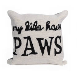 Trans-Ocean Frontporch Pillow My Kids Have Paws 426812 Neutral
