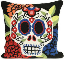 Trans-Ocean Frontporch Pillow Mrs. Muerto 4274/48 Black
