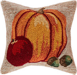 Trans-Ocean Frontporch Pillow Harvest Pumpkin 4395/12 Natural