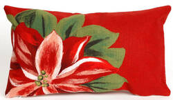 Trans-Ocean Visions Ii Pillow Poinsettia Red