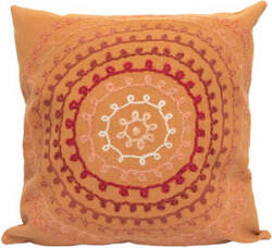 Trans-Ocean Visions Ii Pillow Ombre Threads 4105/18 Coral Area Rug