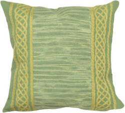 Trans-Ocean Visions Ii Pillow Celtic Stripe 4117/06 Grass Area Rug