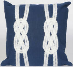 Trans-Ocean Visions Ii Pillow Double Knot 4142/33 Navy Area Rug