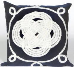 Trans-Ocean Visions Ii Pillow Ornamental Knot 4143/33 Navy Area Rug