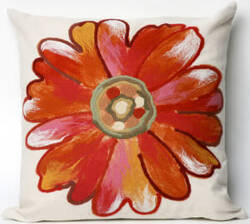 Trans-Ocean Visions Iii Pillow Daisy 3149/17 Orange Area Rug